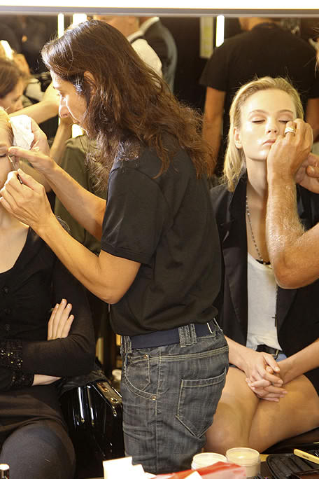 these are the backstage photos of the runway show