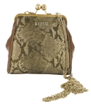 STORM Lansbury brown snake frame clutch - £25.00