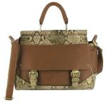 STORM Nighdale brown snake frame handbag - £50.00